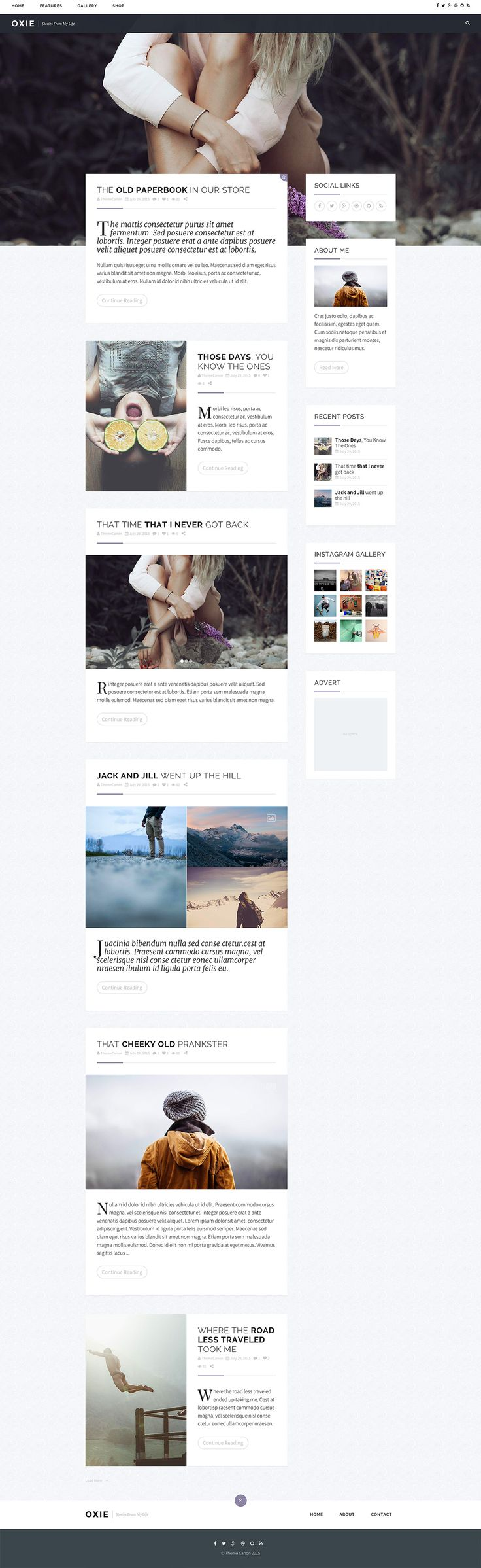 Oxie Personal Wordpress Blog on Behance