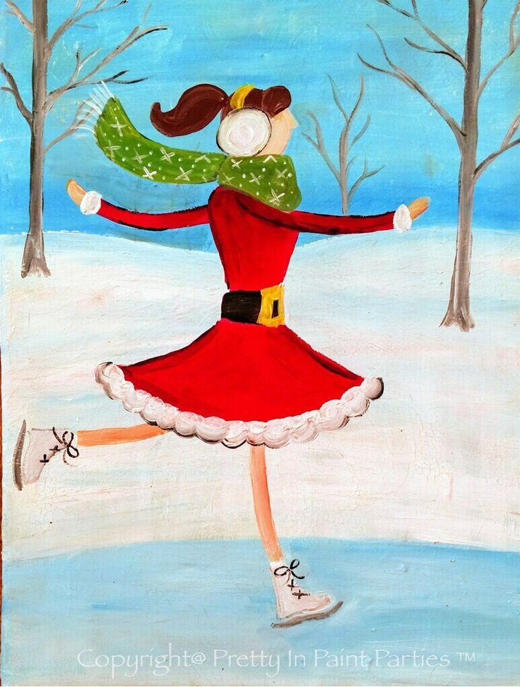 """""""Winter Fun"""" Artist: Victoria Privette"""