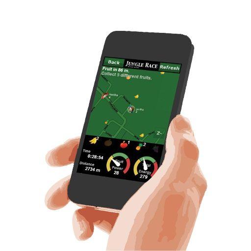 Jungle Race on liikunnallinen mobiilipeli, jossa kerätään virtuaalisia hedelmiä matkapuhelin avulla.