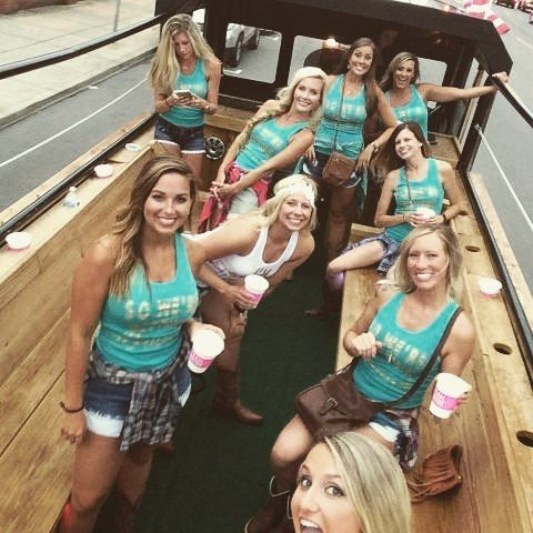 "Bachelorette Party Idea: Nashville's Honky Tonk Party Express!  ""Mardi Gras Meets Nashville."""