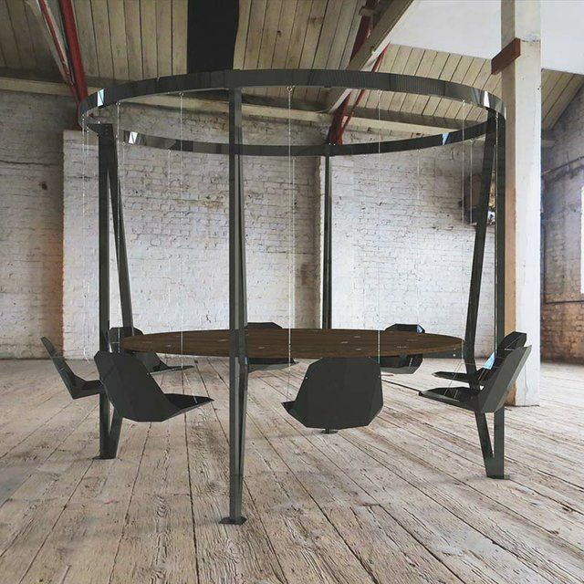King Arthur Round Swing Table Furniture Objects Pinterest