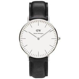 Даниэль Веллингтон Шеффилд женские серебряные часы - черный