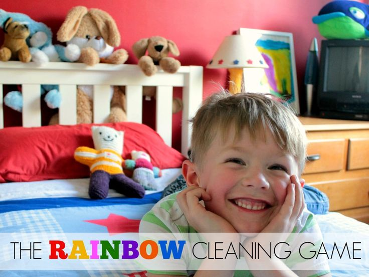 Play the rainbow cleaning game - Kidspot
