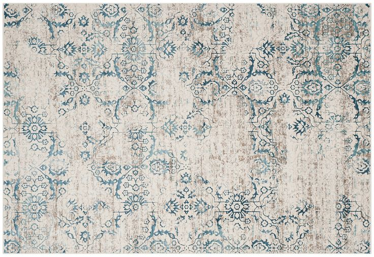 Designed to resemble a prized antique, this blended rug shows off an elegant traditional design and pronounced abrash. A versatile palette allows it to work with a variety of color schemes. We...