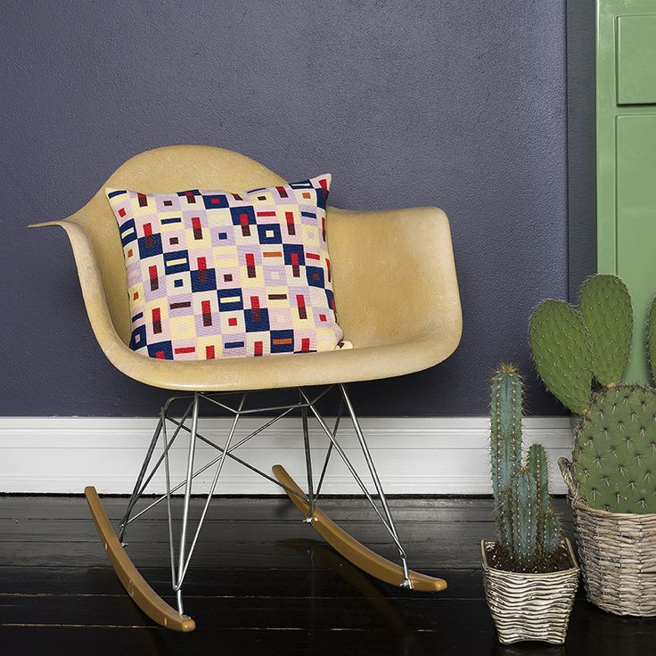 DIY Crossstitch cushion designed and styled by Tine Wessel - The Needle has a Point - for Oehlenschläger Denmark. Photo by: P. Wessel