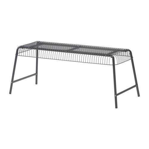 VÄSTERÖN Bänk, inom-/utomhus - grå - IKEA