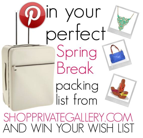 55 best PG Spring Break Packing List images on Pinterest Spring