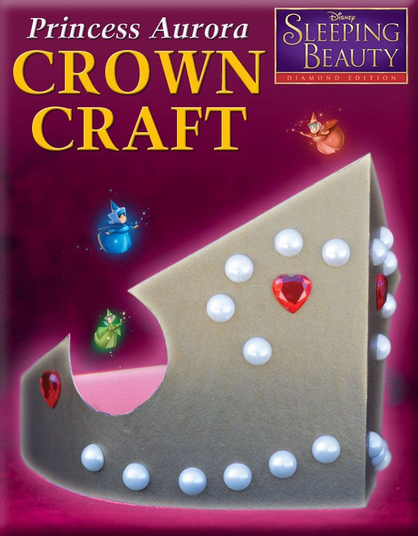 sleeping beauty craft ideas princess crown craft http www wdistudio sbd 5434