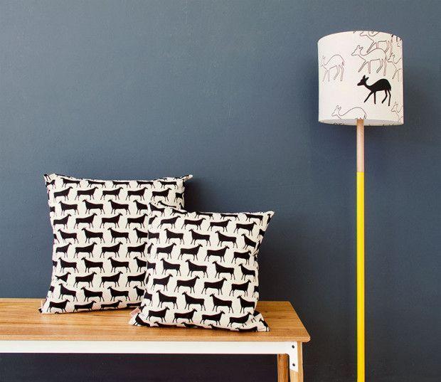 Geometric Standing Lamp and Huguenot Bench // Pedersen + Lennard