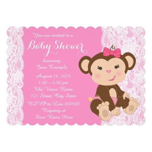 monkey baby showers baby girl
