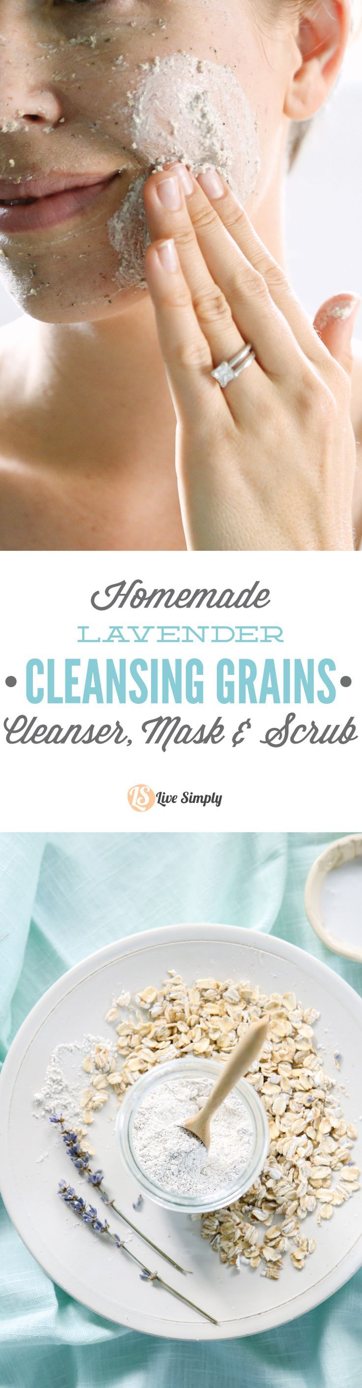 Love this! A 3-in-1 facial cleanser recipe that's easy to make and gentle on the skin.
