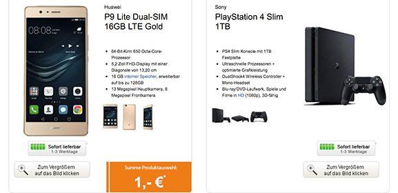 Sony Playstation 4 SLIM mit Handy ab 1€ und 2,5GB Handyvertrag http://www.simdealz.de/vodafone/sony-playstation-4-mit-vertrag/