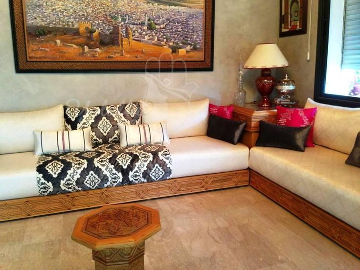 Salon marocain for the home pinterest living rooms decor and moroccan living rooms - Decoration salon marocain moderne ...