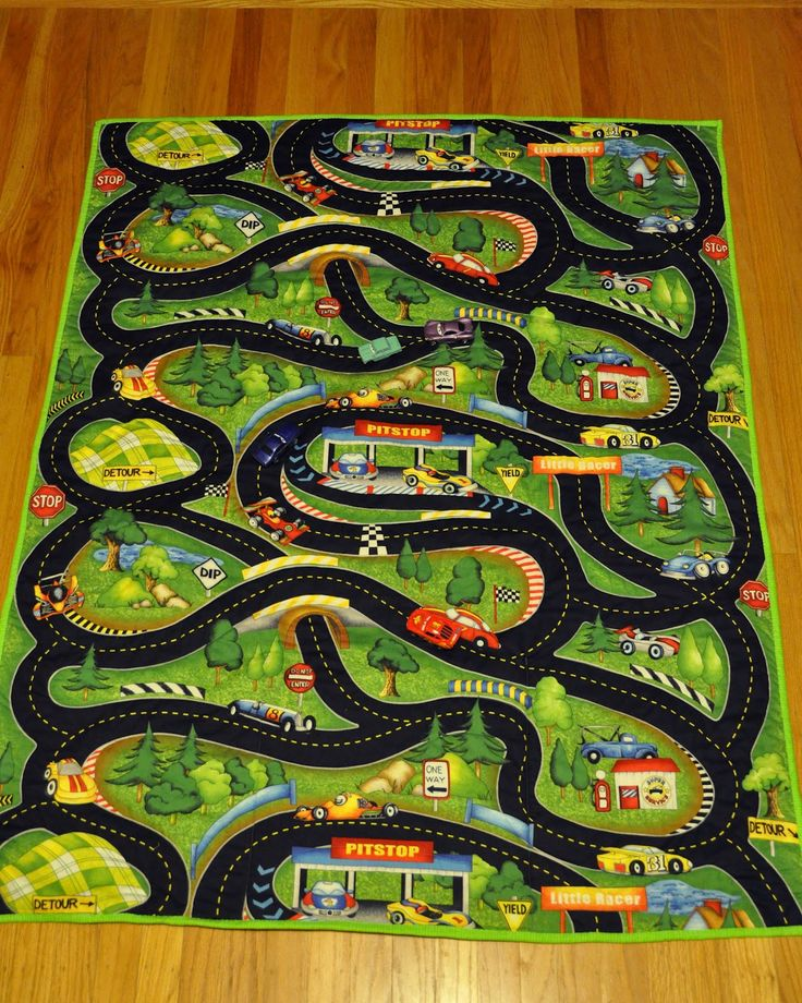 Fabric Roads For Toy Cars : A car road map quilt and quillow great idea