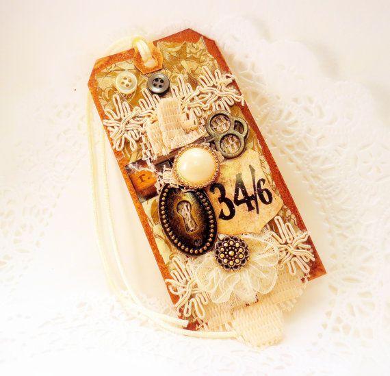 ÚLTIMO Wedding etiquetas de papel bagagem tronco do vintage do olhar do laço chaves francesas chá manchado velho mundo qualidade artistas coisas efêmeras para enquadrar tagt marfim