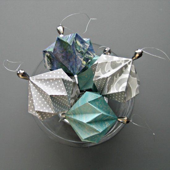 Make three kinds of pretty origami ornaments that aren't just for Christmas. DIY + tips for success.