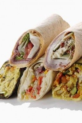 20 Wrap Ideas :: Wraps are wonderful on-the-go food, fast food, and are easy to make both tasty and healthy!
