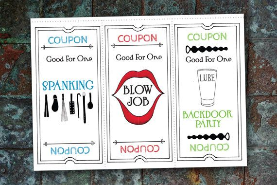Coupon for a good time str 007 funny naughty card for Coupons for my boyfriend