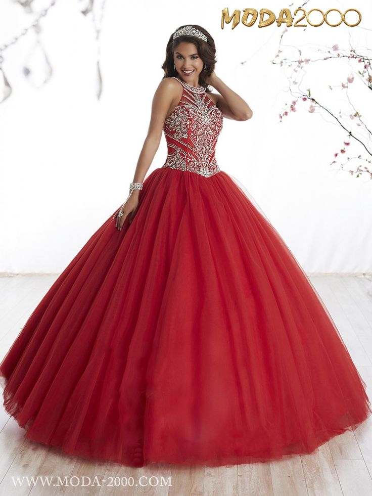 MODA 2000 GORGEOUS CHERRY RED QUINCEANERA DRESS! Follow us on instagram for daily updates @moda_2000