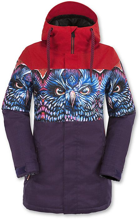 Volcom Act Insulated Jacket - Women's Snowboard Jackets - Owl - Winter 2016 - Christy Sports