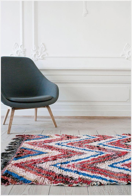 단조로운 실내를 포근하게, 패턴까지 따뜻한 러그
