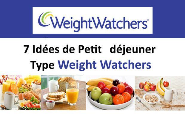 7 Idées de Petit déjeuner Type Weight Watchers à réaliser facilement et rapidement.