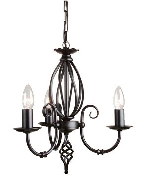 Elstead Lighting ART3 Black Artisan Three Light Chandelier
