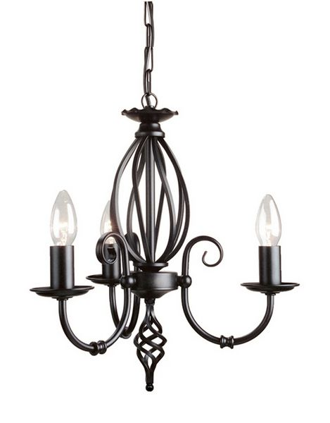 Elstead Lighting ART3 Black Artisan Three Light Chandelier