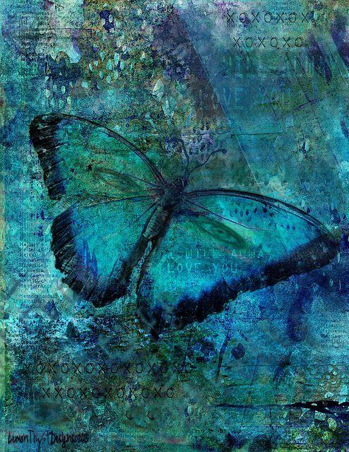 Gotta love butterflies, collage using Citra Art backgrounds. Christy RePinec, LemonTrystDesigns©2013, Citra Solv art