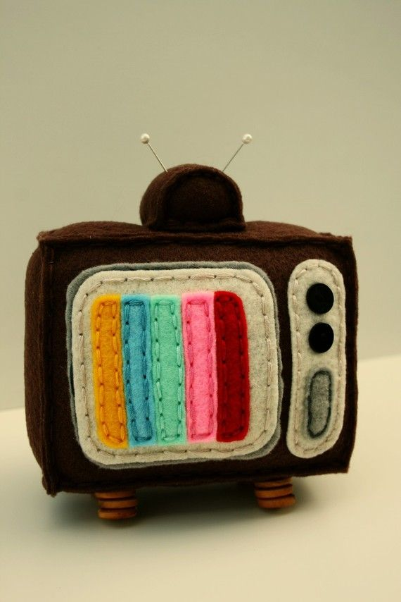 Rainbow Screen Plush Televison by ForagePhotoAndDesign on Etsy
