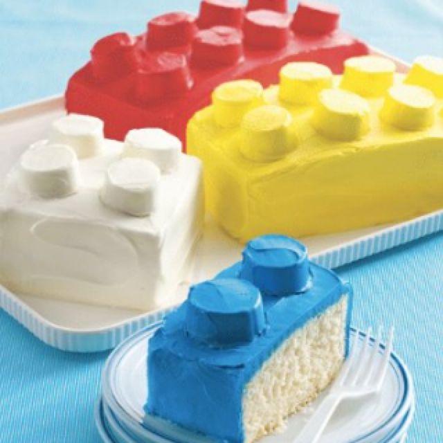 Lego cake! Great kids party idea