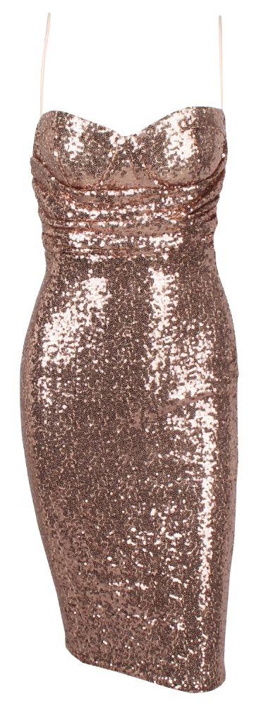Sophisticated sequin cocktail dress. Run true to size.