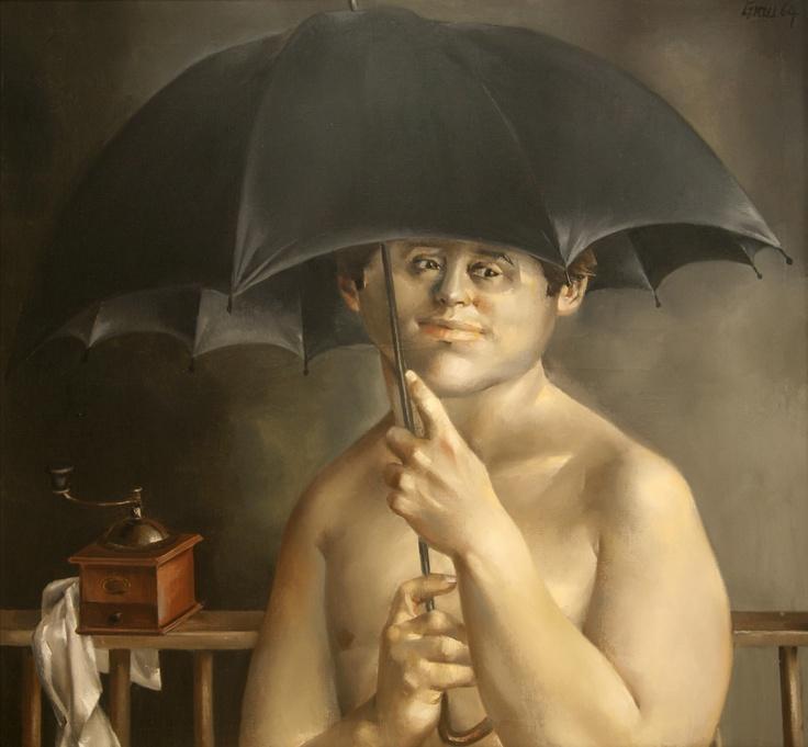 """AMA collection #163: """"Boy with Umbrella"""" (1964) by Enrique Grau (Colombia)"""
