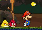 Mario vs Angry Birds | juegos de mario bros - jugar online