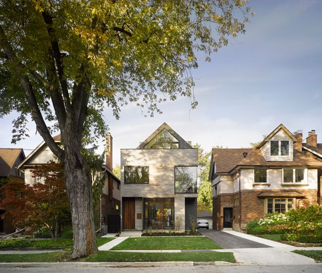 In Moore Park, A Modern Home With A Curiously Pitched Roof   Designlines