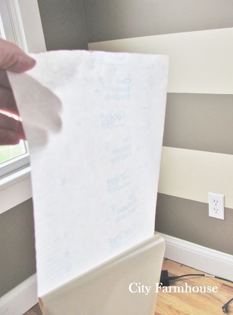 Contact Paper Wall Stripes=want to do this in the half bath
