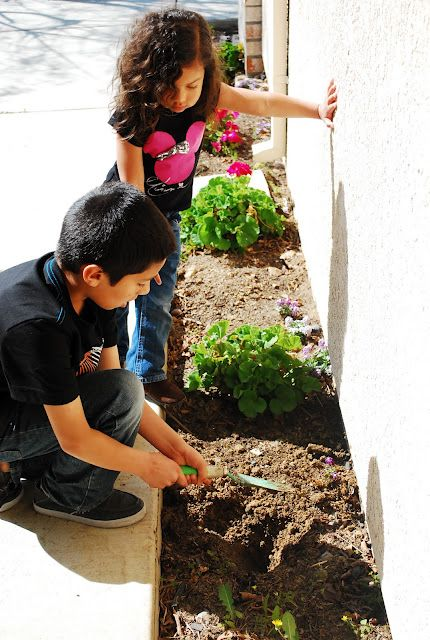 Kids and gardening. They love it