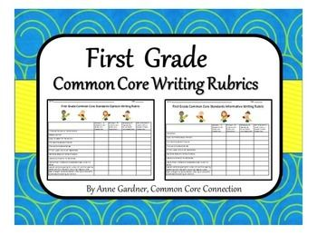 grade level writing assessments for first grade