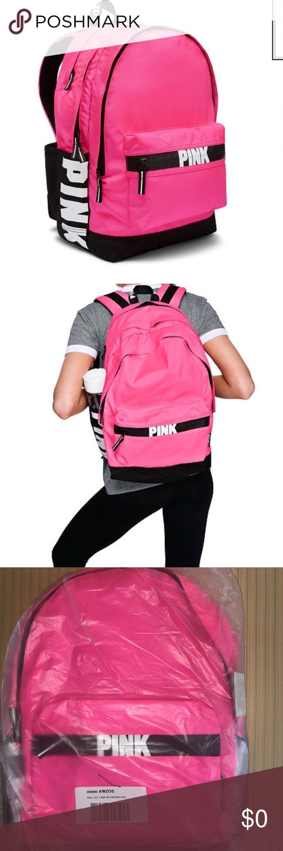 🆕Just Added Pink Victorias Secret Backpack 🆕Bundle and save;Shipped in online original packaging The one and only Campus Backpack! Durable and super cute, it's got plenty of pockets and tons of room to fit all your campus essentials. Comfy padded straps with mesh overlay for breathability  Zippered padded laptop sleeve fits 17'' laptop Exterior zip pocket Internal mesh pocket 18in x12in Velcro closure side pockets:Color Pink on Fleek PINK Victoria's Secret Bags Backpacks