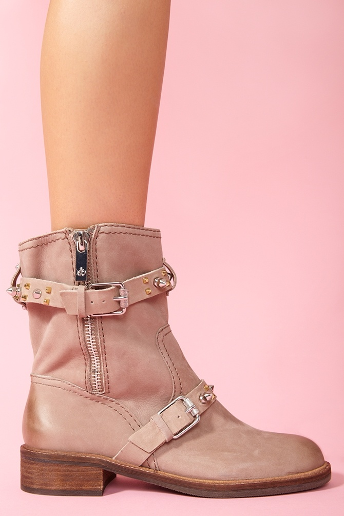 Adele Spike Boot in Taupe Nubuck: Boots Rb, Spikes, Boots ️ ️, Spike Boot, Adele Spike, Moto Boots, Boots Dame Herre