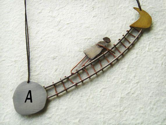 Personalized jewelry  Monogram necklace  by PikipokaJewelry