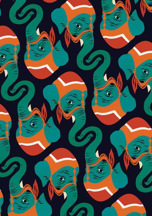 elephant print: Matte Taylors, Prints Patterns, Elephant Print, Elephants Patterns, Indian Elephants, Elephant Pattern, Prints Design, Elephants Prints, Indian Patterns