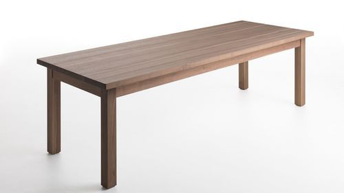 Contemporary solid wood dining table TABULA by Gabriele Centazzo VALCUCINE / example of dining table