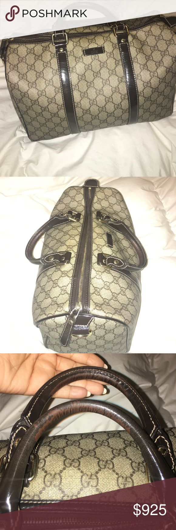 Gucci Boston AUTHENTIC 100% Light wear on the handles no stains on the outside or inside. No scuffs kept in perfect condition. Not worn everyday except on occasions ideal everyday handbag asking for $900-$850 does not come in original box or dust bag. Price can be negotiated Gucci Bags Satchels