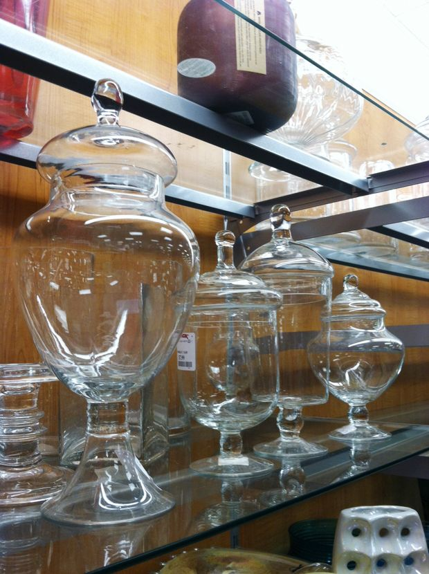 TJ Maxx Glass Canisters for decorating