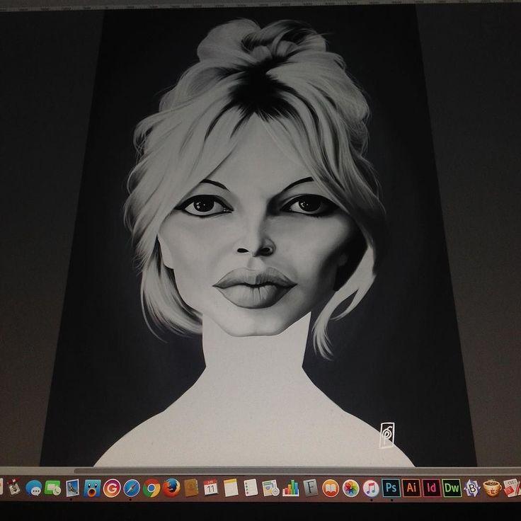 Brigette Bardot today #brigettebardot #celebrity #wip #digitalart #digitalpainting #robart #wacom instagram | art | ideas | follow