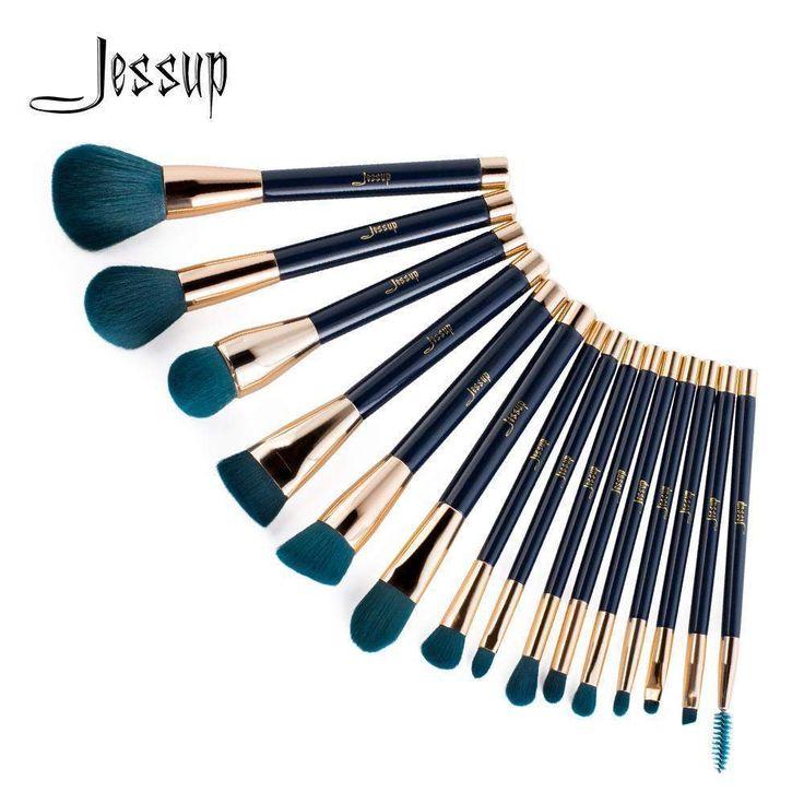 buy on wallmart.win Jessup brushes makeup brushes professional 15Pcs makeup brushes brush set Eyeshadow Blending Eyebrow T113
