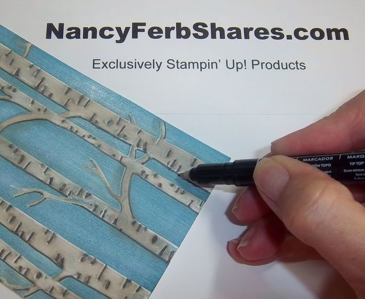 Nancy's tips on using Stampin' Up's Woodland embossing folder.