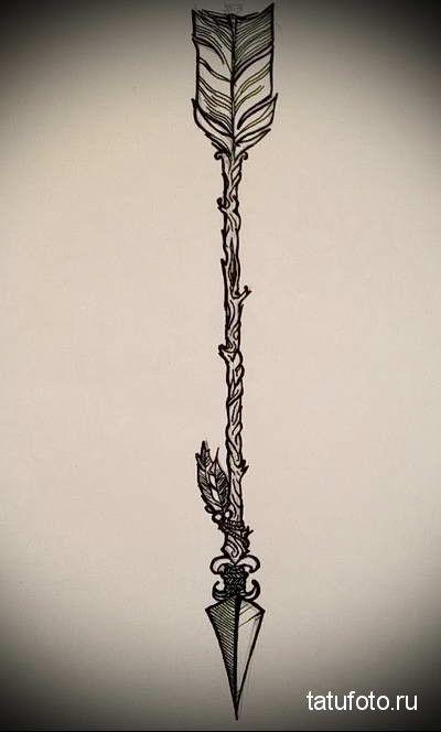 эскиз для тату большая стрела