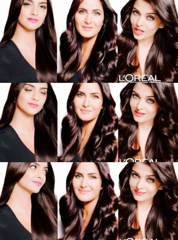 Sonam Kapoor, Katrina Kaif & Aishwarya Rai for  L'Oreal Paris Advanced Hair Care ad 2016